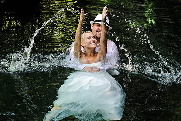 Angela & Christopher | Cenote Cristalino