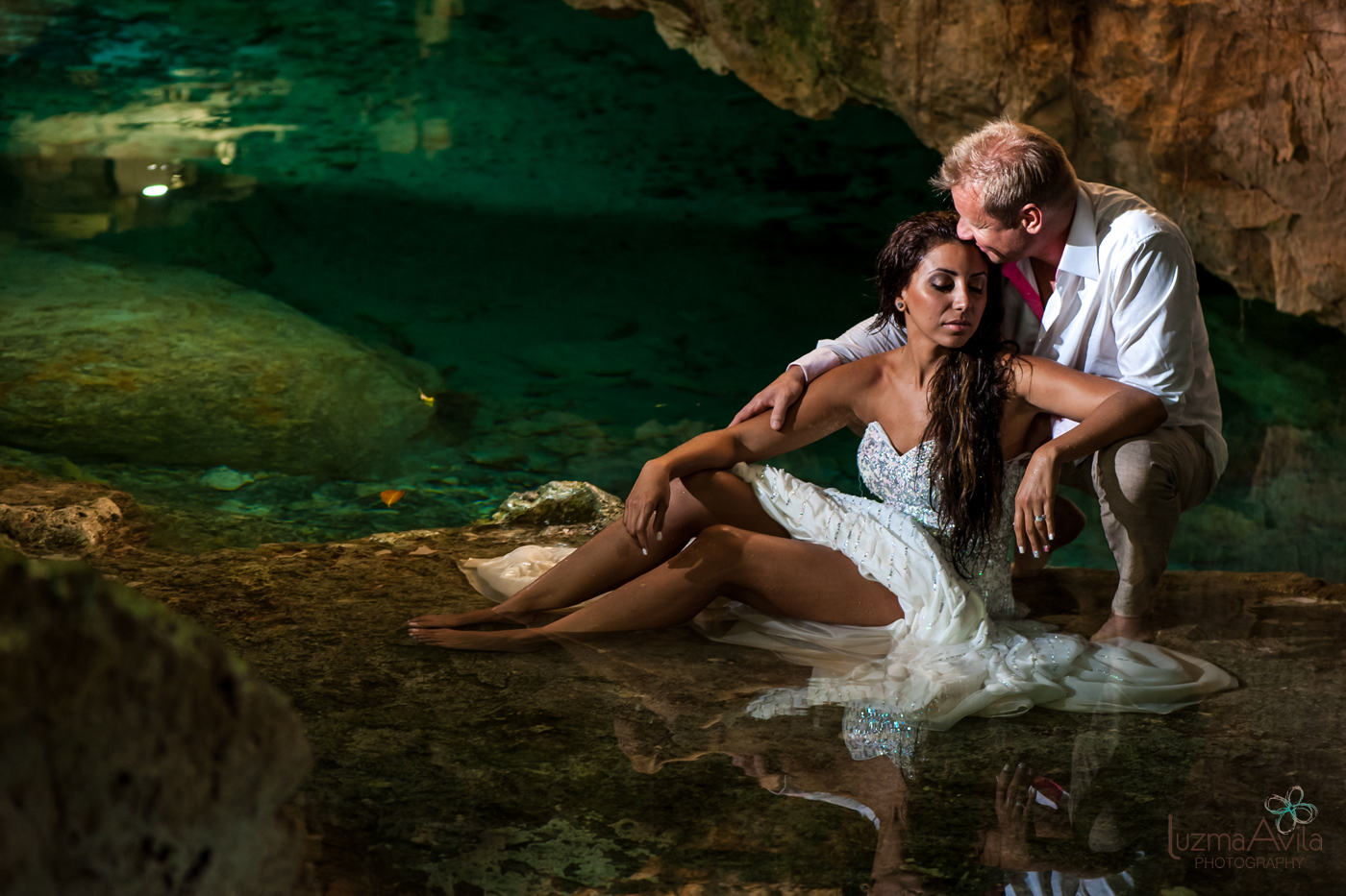 cancun trash the dress