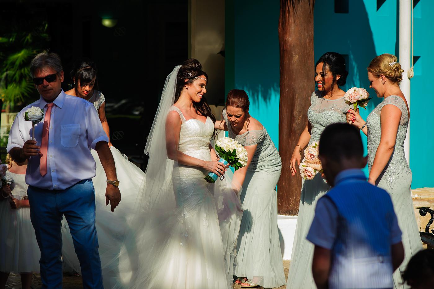 occidental grand xcaret wedding photos