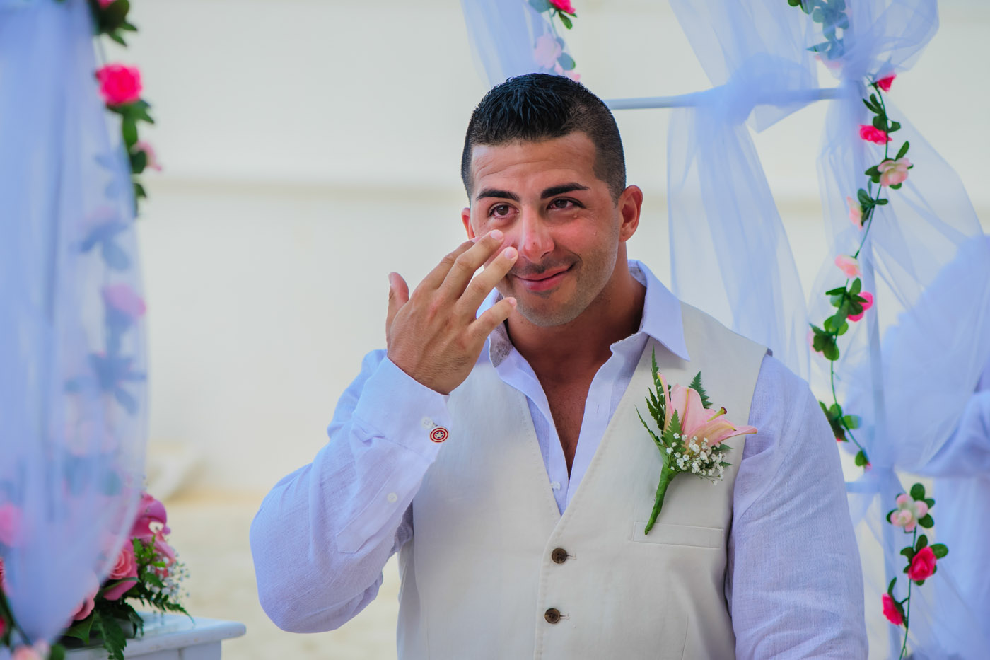 riu cancun wedding photos